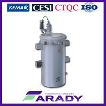 Prix du transformateur électrique pour le transformateur Csp monté sur poteau immergé à huile de 11kv 100kVA