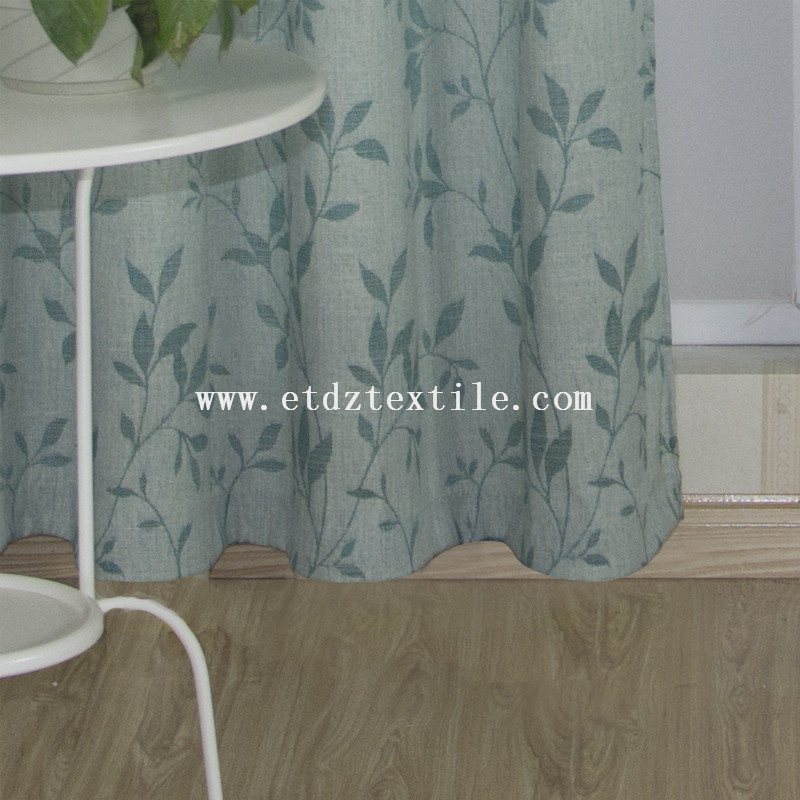 6006-14 Typical Polyester Slub Yarn Piece Dyed Curtain Fabric