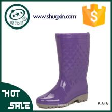 botas de lluvia de pvc impermeables señoras zapatos de lluvia de lujo
