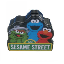 Special Shape Tin Box Coin Bank Sesame Street English Promotion