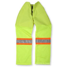 Lime Green Polyester/Cotton Pant with Mesh Bottom