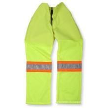 Лимонно зеленый полиэстер/хлопок брюки с сетчатым дном