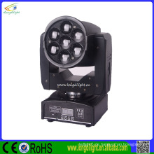 Night Club Rotationslicht DMX 512 7 * 12w RGBW Mini Dj Moving Heads Zoom Waschlicht