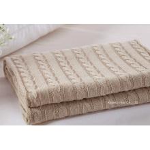 Couverture en tricot de câble tricoté 100% haute qualité (B14106)
