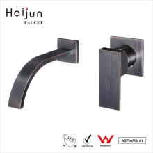 Haijun 2017 barato Escova artística único Handle Wall Basin Brass Faucets