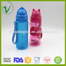 Heat-resistant empty unique PCTG plastic joyshaker water bottle with straw