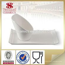 Bol à fruits en céramique blanche décorative marbelle en porcelaine