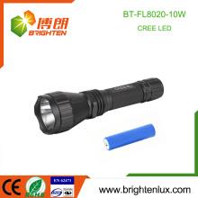 Factory Wholesale 1 * 18650 Multi-fonction 5 Mode lumière 10W cree xml t6 High Power Tactical Rechargeable Torch light led