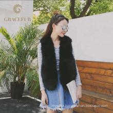 Best supplier women fur vest fashion
