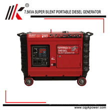 5kw 6kw 7kw 8kw 9kw 10kw Generador Diesel Portátil Generador silencioso súper silencioso en venta