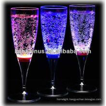 Romantic illuminated LED Liquid Active Champange Glass