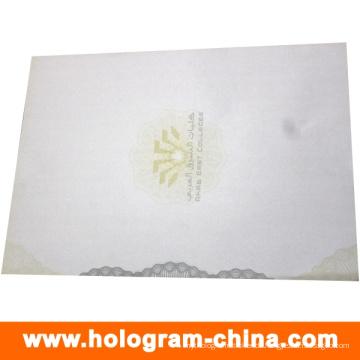 Sicherheits-Anti-Fake-Zertifikat mit UV-Logo-Druck