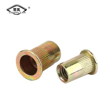 Écrous aveugles à tête plate en métal Rivnut