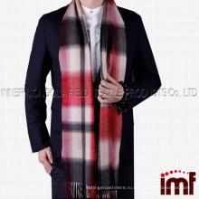 Мужские кашемировые зимние шарфы, зимний шарф, мягкие элегантные длинные шарфы с модной отделкой