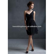 HB2009 Latest design one shoulder tea length bridesmaid dress