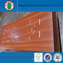 Melamine Wood Grain Color Moulded HDF Door Skin