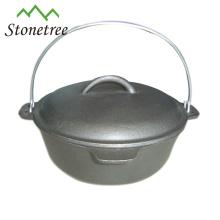 O acampamento dobro exterior de 1.5-20QT usou o forno holandês Pre-seasoned do ferro fundido