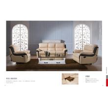 Canapé de salon avec canapé moderne en cuir véritable (418)