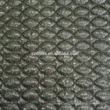 tecido térmico, 3 camadas estofando tecido bordado com pano de malha