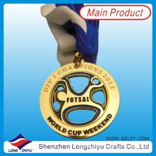 2013 Australia Souvenir Réplica de medallas Medalla de fútbol de moneda Medallas de fútbol hueco medalla de láser para el campeón (lzy00062)