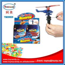 Pushing Super Helicopter Plastikspielzeug mit Süßigkeiten