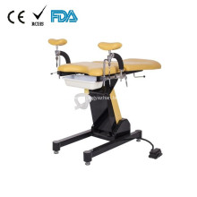Electric foot plate control obstetric examination table