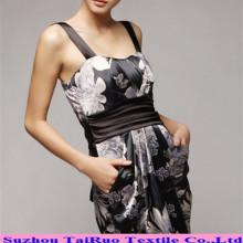 Digitaldruck-Satin-Polyester-Gewebe für Kleid