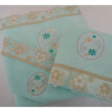 Applique Lace Luxury 3-Piece Bathroom Set Towel