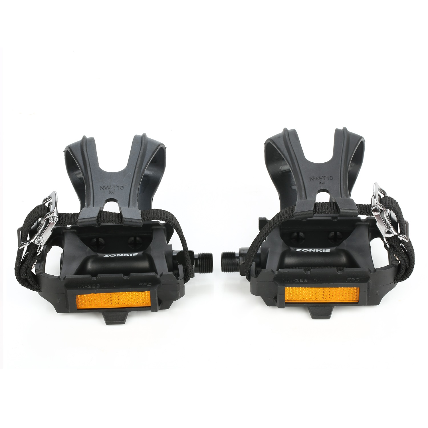 Bike Resin Pedal with Toe Clip/Strap 9/16 Inch
