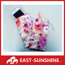 digital printed microfiber two-side flannel pouch