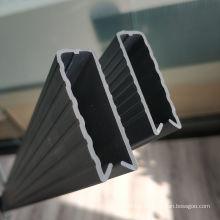 Top PVC U cover for Galvanized Grid WPC lattice fence Occultation wpc kit lamelle rigid panels for 2.5m