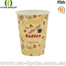 Copo de papel bebendo descartável 8oz do café com tampa
