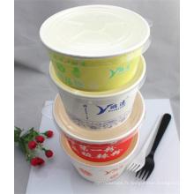 Récipient rond de nourriture de papier de la catégorie comestible 1000ml fabriqué en Chine