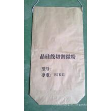 Bolsa de Papel Kraft Biodegradable para Polvo con Cuerda