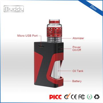 Zbro 1300mAh easy refill glass RDA vape box mod kit amazon