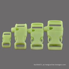 """Brilho em plástico escuro Fivela de paracord com seleção de 3/4 """", 5/8"""", 1/2 """", 3/8"""" para pulseira mochila"""