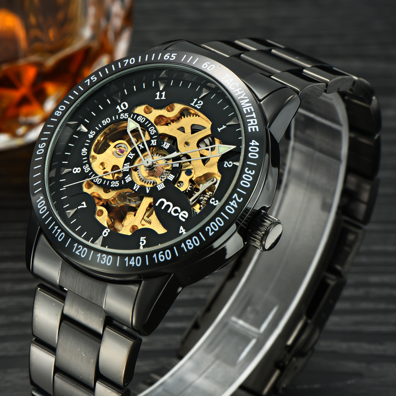 security case dial mechanical wrist watch