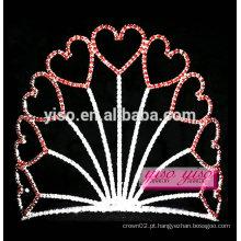 Nova moda feminina diamante grande princesa valentine festival tiara