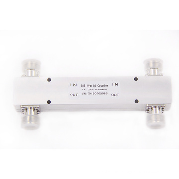 indoor 2 IN 2 OUT 200w 305-1000mhz 3db Hybrid combiner coupler