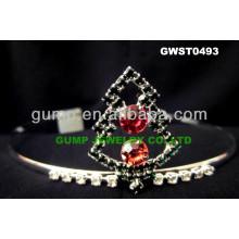 Corona de la pequeña tiara del día de Navidad