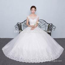 Neue Ankünfte 2016 Ballkleid-Entwerfer-Schatz-Spitze Appliqued Tulle-preiswertes Hochzeits-Kleid