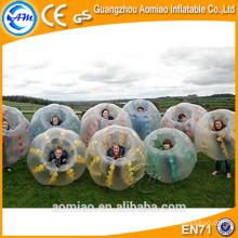 Gran venta tpu parachoques pelota burbuja pelota para le fútbol / burbuja pelota fútbol