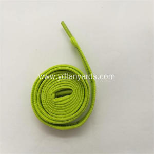 Flat Silk Screen Printed Polyester Shoelace
