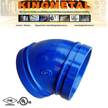 45 Degree Ductile Iron Grooved Pipe Fitting of Elbow.