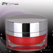 2015 best selling oval acrylic cosmetic jar