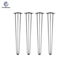 Removable Wrought Iron Hairpin Table Leg