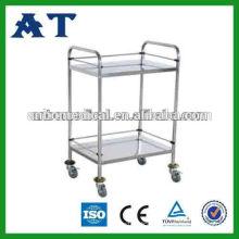 nursing useful stainless steel stock cart