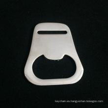 Abrebotellas simple de encargo de la aleación del cinc con final de plata brillante para el regalo promocional