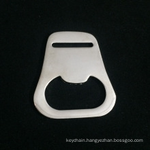 Custom Zinc Alloy Simple Bottle Opener with Shiny Silver Finish for Promotional Gift