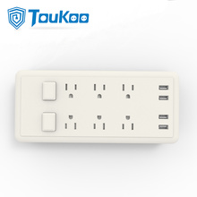 American power strip de 6 tomadas com carregador USB